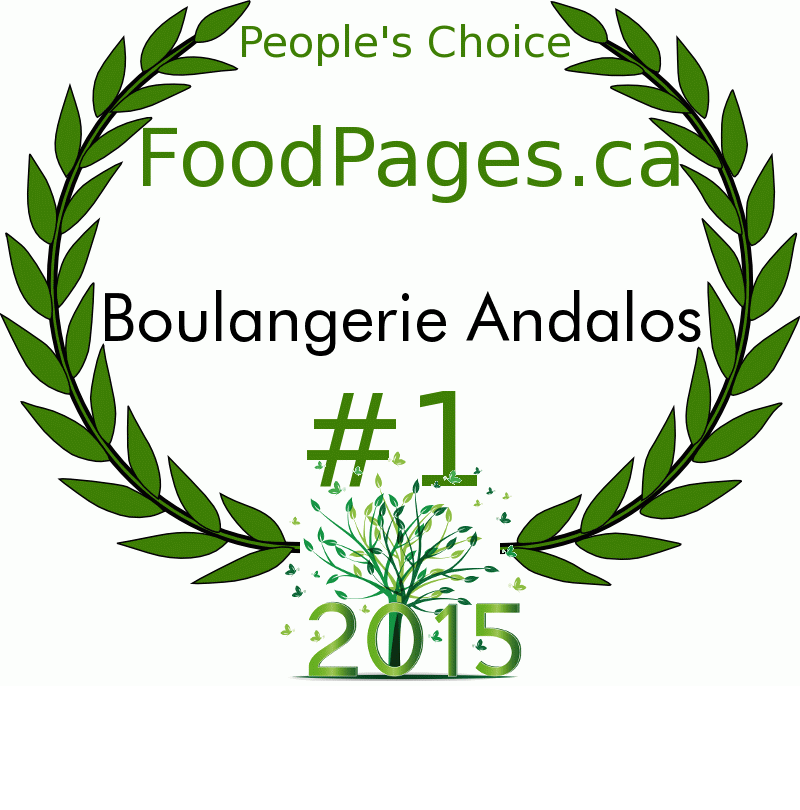 Boulangerie Andalos FoodPages.ca 2015 Award Winner